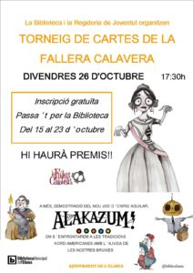 "TORNEIG DE ""FALLERA CALAVERA"" @ Biblioteca Municipal"